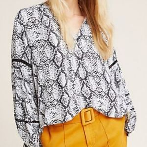 Anthropologie NWT 1X Long Sleeve Top. Brand New!